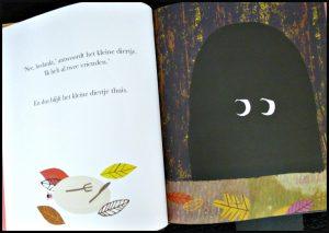 De Grot Rob Hodgson prentenboek BBNC Flamingo Kinderboeken wolf klein diertje donker honger verrassing lachen jong oud wending recensie review
