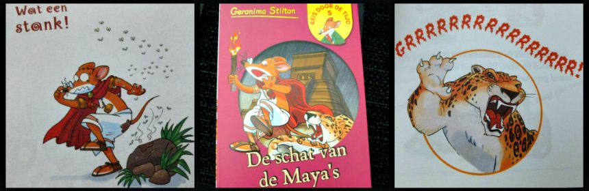 Reis door de tijd 5 De schat van de Maya's deel 2 Reis door de tijd 2 Geronimo Stilton pocketboekjes delen handzaam formaat tijdreizen Aan het hof van de Koning De schat van de Maya's Een wedstrijd voor de keizer De Wakkere Muis recensie review