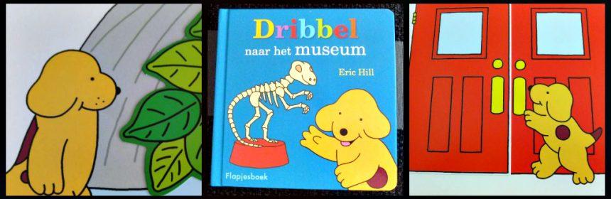 Dribbel naar het museum Eric Hill kartonboekje flapjesboek Unieboek Spectrum flapjes zoeken Egypte hondje herkenning kinderen begrijpen recensie review