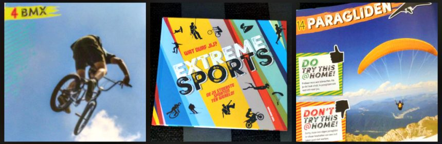 Wat durf jij? Extreme sports Raymond Krul informatief Vi Boeken sporten test ontdekken veiligheid tips en tricks recensie review