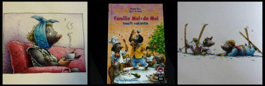 Hoera, ik kan lezen! Familie Mol-deMol heeft vakantie De Vier Windstreken dyslexie lettertype AVI E4 Leren Lezen tekeningen humor vakantie avontuur recensie review