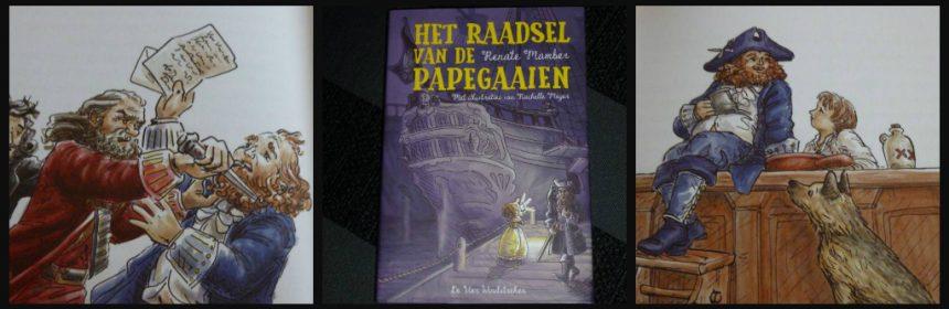 Het raadsel van de papegaaien Renate Mamber Zelf Lezen De Vier Windstreken Voorleesboek spannend mysterieus piraten schat dief recensie review