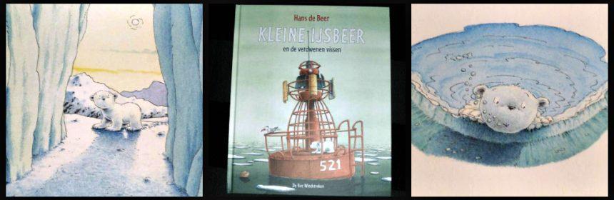 Kleine ijsbeer en de verdwenen vissen Hans de Beer De Vier Windstreken Lars visserij probleem wereld zeestraat honger samenwerken krachten bundelen voorleesboek prentenboek recensie review