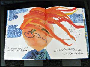 Meneer de Wind Ciska Beens prentenboek Palmslag uitspraken kinderen Wat is wind? Tekeningen herkenbaar energie opwekken graan malen molen scheetje stroom verhaal recensie review