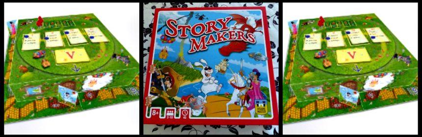 Story Makers Bordspel The Game Master 8+ jong en oud lezen verhalen verzinnen kaarten woorden droonkasteel samen spelen storymaker blocnote raden recensie review