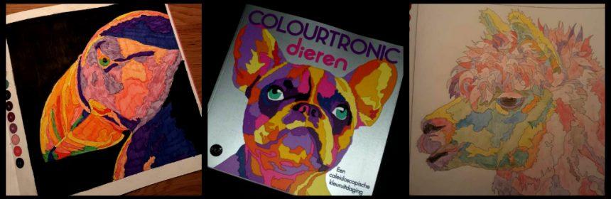 Colourtronic Dieren kleurboek caleidoscoop kleurplaten kleuren volwassenen kleuren op nummer recensie review BBNC MUS Creatief