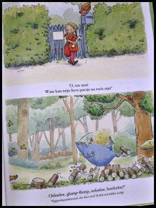 Het grote blauwe monster Lucille Dubisy Emma de Woot prentenboek vooroordelen vriendschap elkaar helpen verschillen uiterlijk recensie review