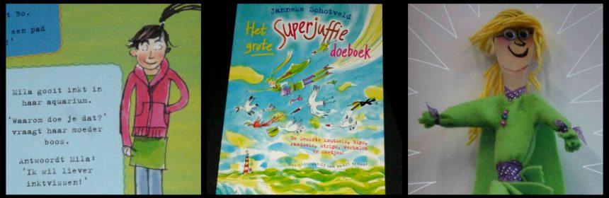 Het grote Superjuffie Doeboek Janneke Schotveld Annet Schaap Van Holkema & Warendorf doeboek raadsels moppen puzzels lezen quiz spelletjes Sinterklaas Kerst Kerstvakantie recensie review