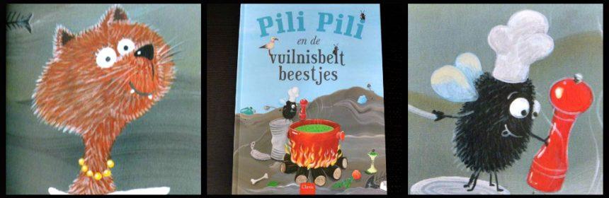 Pili Pili en de vuilniosbeltbeestjes Thaïs Vanderheyden prentenboek Clavis afval afvalscheiding recyclen hergebruiken recensie review