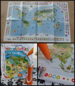TipToi Starter Set Mijn Grote Wereldatlas TipToi Stift Boek Mijn Grote Wereldatlas leerzaam ontdekken spelenderwijs 5+ wereldkaart interactief leersysteem batterijen stem recensie review
