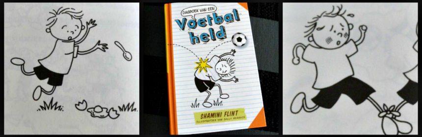 dagboek van een Voetbalheld Shamini Flint Vi Kids Zelf Lezen graphic novel voetbal meningsverschil strijd humor tekeningen recensie review
