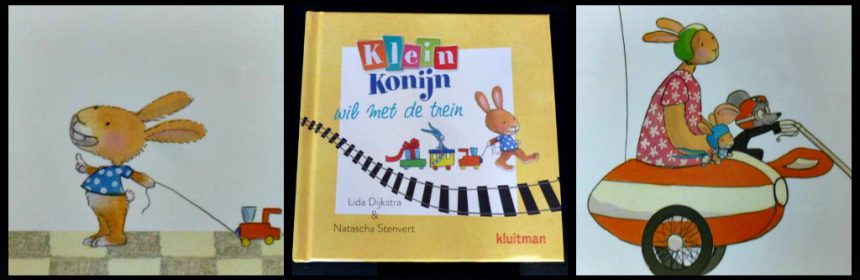 Klein Konijn wil met de trein Lida Dijkstra prentenboek reizen bus motorpech vertraging problemen feestje trein Bobbi Kluitman recensie review