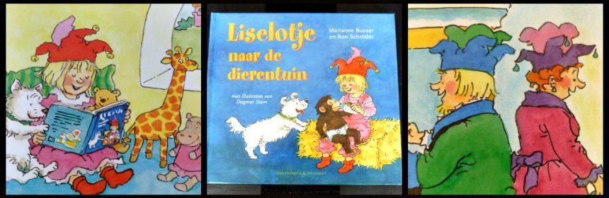 Liselotje naar de dierentuin Marianne Busser Ron Schröder prentenboek Van Holkema & Warendorf dagje uit tekeningen foto's oppasser helpen samen lezen recensie review