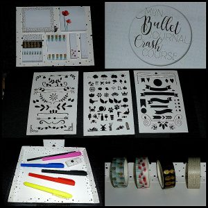 Mijn Bullet Journal Toolkit cadeauset cadeau BBNC bujo kerstcadeau cadeaudoos aanvulling beginner startset HB-potlood fineliners markeerstift sjablonen washi tape sticky notes instructieboekje bullet journaling crash course recensie review