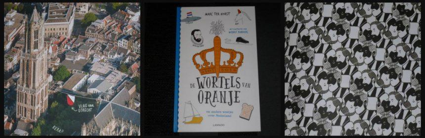 De wortels van Oranje Marc ten Horst Lannoo Educatief leerzaam geschiedenis weetjes feitjes schilders Koningen Koninginnen tekeningen speelse vormgeving prent cover schoolbibliotheek thuis recensie review