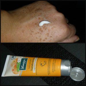 Kneipp Seconde Handcrème met nagelriemverzorging abrikozenmelk marulaolie citroenverbena avocadoboter product intrekken zacht soepel verzorging nagelriemen huid recensie review