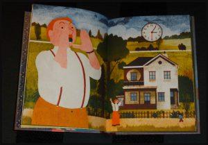 Onze vakantie Blexbolex prentenboek Clavis verhaal zonder woorden tekeningen plaatjes fantasie reis verzinnen olifant vader opa meisje recensie review