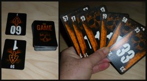 The Game Het Duel kaartspel 8+ 2 personen White Goblin Games oplopend aflopend trekstapel tegenstander achteruittruc recensie review