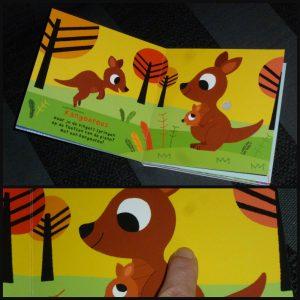 Dierencarnaval van Saint-Saëns Marion Billet kartonboek geluidenboek Clavis dieren muziek muziekinstrumenten geluiden peuters olifant contrabas leeuw statig koninklijk magisch fluitorkest vogels zingen recensie review