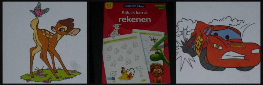 Ik leer met Disney Kijk, ik kan al rekenen lezen schrijven oefenboeken vanaf vier jaar groep 3 eerste leerjaar rekenraadsels Disney karakters Simba Assepoester Bliksem McQueen Aristokatten Disneyfiguren recensie review Deltas