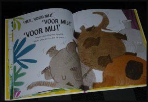 Die peer is voor mij! Anuska Allepuz Gottmer prentenboek samenwerken olifanten muizen oerwoud moeilijk recensie review
