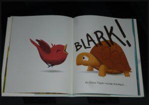 Kleine vogel leert een stout woord Jacob Grant prentenboek uitgeverij Flamingo BBNC leerzaam herkenbaar kinderen napraten vrienden papa boodschap gevoelens alternatief kroost recensie review