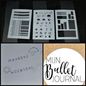 Mijn Bullet Journal Stencils sjablonen BBNC 15 stuks bujo versieren toolkit banners vormen vakjes dagaanduidingen veertjes bloemen vogels tekenen papier eenvoudig kunstwerkjes pimpen creatief versieringen recensie review