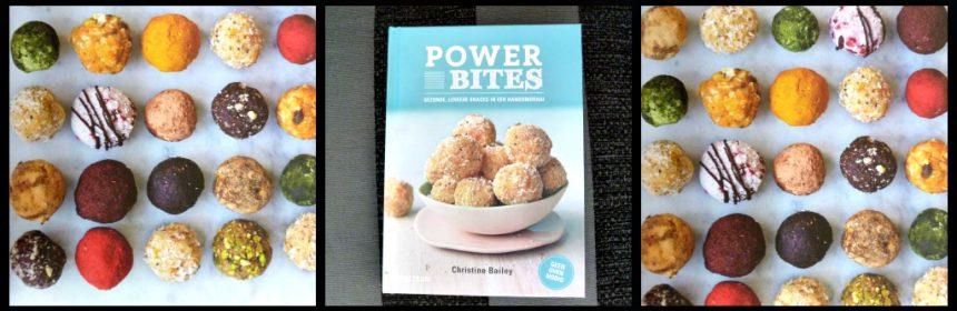 Powerbites Christine Bailey Spectrum kookboek snacks snackballetjes superfit superhandig superlekker guilty pleasure gezond ingrediënten keukenmachine sporten eiwitten koolhydraten energieniveau gezonde snacks tussendoortje ontbijt lunch zoet koelkast diepvries bewaren recensie review