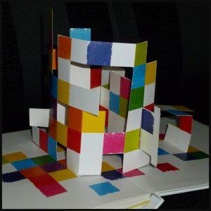 Zoek de streep Andy Mansfield Fontaine Uitgevers prentenboek puzzelboek papier-ingenieur puzzelplezier opdracht kleurenpatroon duwen trekken vouwen schuiven verslavend bladzijden concept recensie review