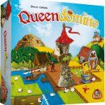 Queendomino bordspel White Goblin Games Kingdomino zelfstandig spel combinatie team acht personen scoreblok puntentelling acties koninkrijk velden 3D toren recensie review