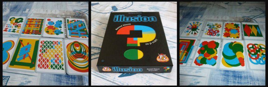 Illusion kaartspel White Goblin Games pijlkaarten kleuren spelers volgorde winnaar kaartcombinaties percentage kleurenblind recensie review