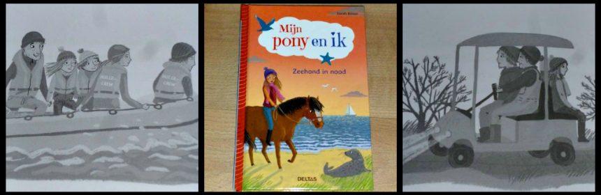 Mijn pony en ik 3: zeehond in nood Sarah Bosse Zelf Lezen Deltas paardenfans dierenliefhebbers kinderen tekeningen grijstinten dierenopvang onderzoek avontuur los te lezen reeks serie recensie review