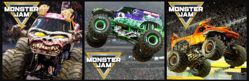 Winactie Monster Jam De Kuip Rotterdam tickets Pit Party show Grave Digger Max-D El Toro Loco Monster Mutt stunts off-road freestyle monster truck racing winnen