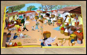 Paco en de Afrikaanse muziek Magali Le Huche geluidenboekje Paco en de fanfare Clavis prentenboek geluiden afbeeldingen instrumenten geluidsymbooltjes balafon djembés sanza fragmentjes aan/uit-knopje recensie review