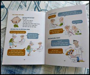 Een mop met een bij bij Riet Wille Richard Verschraagen Leren Lezen AVI M3 beginnende lezers moppen raadsels woordgrapjes tekeningen lachen plezier De Eenhoorn recensie review