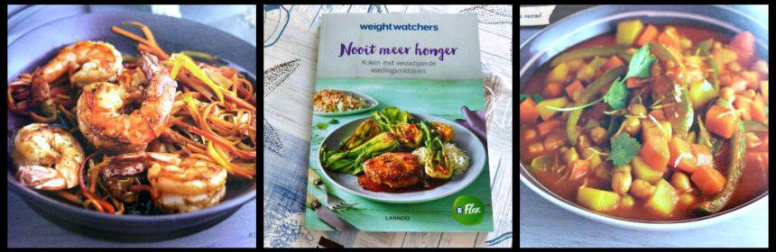 Weight Watchers Nooit meer honger Lannoo kookboek Smart Points variatie meenemen lunch werk Weight Watchers Flex Programma gerechten recepten gezin vegetarisch bereidingstijd dieet afvallen recensie review