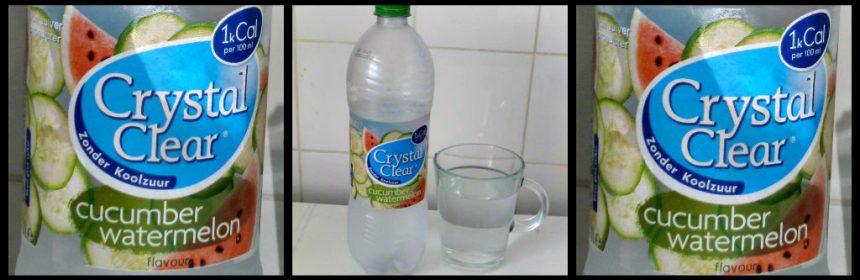 Crystal Clear Green Cucumber & Watermelonm Crystal Clear Komkommer en Watermeloen verfrissend koelkast koud duidelijke smaak bruisend smaakje koolzuurvrij lekker drinken recensie review