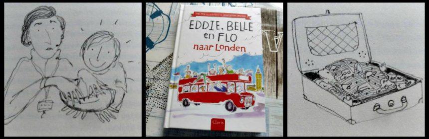 Eddie, Belle en Flo naar Londen Inga Mol Zelf Lezen Voorleesboek Clavis Engelse taal schoolreisje dinobotjesmuseum slapen paspoorten recensie review