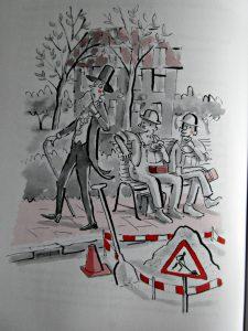 Een bofkont in pechstad Thijmen Gijsbertsen Van Holkema & Warendorf Zelf Lezen recensie review tekeningen