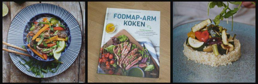 FODMAP-arm koken Lorraine Maher Paula Mee koken Deltas kookboek prikkelbare darmsyndroom PDS IBS triggers gerechten recepten ingrediënten quinoaplak met geroosterde groente zalmburgers met spinazie-aardbeien salade boekweitpannekoeken met bosbessencompote recensie review