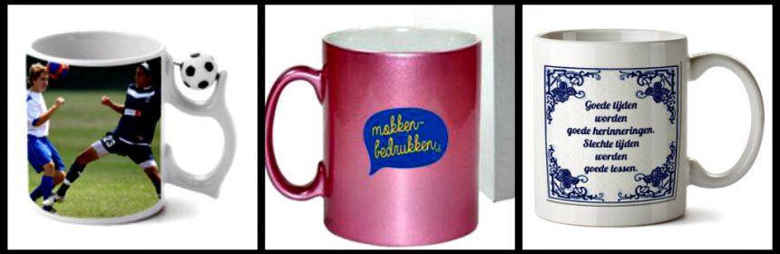 Mokken-Bedrukken.nl cadeautje personaliseren kadootje gepersonaliseerd foto tekst opdruk PonyParkCity herinnering foto ontwerpen bedrukken resultaat vaatwasser witte mok blauwe rand en oor Senseo Senseo Mokken hart recensie review