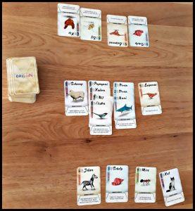 Origami kaartspel White Goblin Games vouwen kaart pakken speciale actie figuurtjes origamifiguur tellen strategisch kinderen volwassenen vrienden kaartspelletje 8+ recensie review