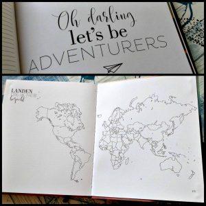 Fernweh Travel Journal reisdagboek BBNC MUS Creatief droomreiziger verhalen foto's folders heimwee avonturen bucketlist wereldreiziger opdrachten reishacks tips recensie review