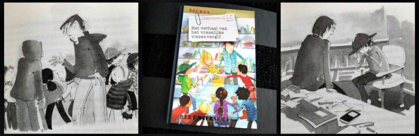 Detectivebureau Iris en Ko Het verhaal van het vreselijke vissenvergif boekenreeks Bert Wiersema Royal Jongbloed schoonmaker afwasmiddel vermoord school buurmeisje beschuldiging onschuld bewijzen kinderen spanning taalgebruik doelgroep Sherlock Holmes recensie review