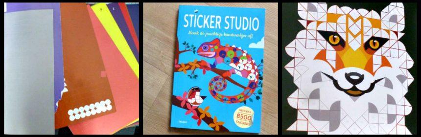 Sticker Studio Deltas Hobby stickers plakken prenten afbeeldingen tekeningen kleuren vormen kleurnummer Paint By Sticker dieren planten gebouwen grafische patronen lijnenspel tijdverdrijf familie gezin creatief recensie review