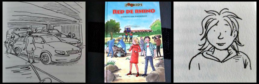 Zookids Red de Rhino neushoorn Liesbeth van Binsbergen boekenreeks serie dierentuinreeks Leren Lezen spannend AVI E5 uitgeverij Colum,bus informatie Engeland dierenverzorger Animal Park Engels uitwisselingsprogramma recensie review