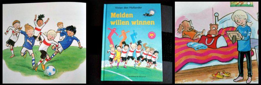 Voetbalsterren: Meiden willen winnen Vivian den Hollander Leren Lezen Van Holkema & Warendorf leesniveau AVI E4 Meiden aan de bal jongens meiden vriendinnengroep serie reeks voetbalmeiden recensie review
