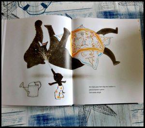 Mijn papa Annemarie van Haeringen prentenboek Leopold olifant vader slapen winterslaap wakker maken pappa tekeningen gezichtsuitdrukkingen verhaal trucjes recensie review