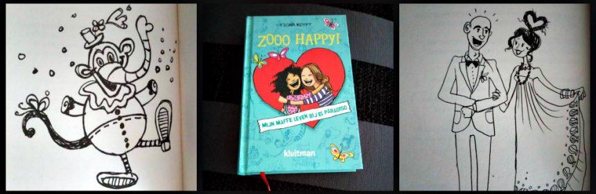 Zooo Happy! Mijn maffe leven bij El Paradiso Fiona Rempt Zelf Lezen Kluitman tekeningen graphic novel leeslint hartje krabbelboek dagboek circus vormgeving tegenslagen verliefdheid recensie review