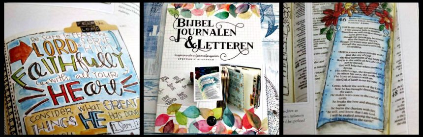 Bijbel Journalen & Letteren Stephanie Ackerman hobby MUS Creatief BBNC art journal art journaling bible journaling bible journal geloog gedocumenteerd geloof mixed media art creatief geloof recensie review